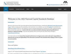 American Bar Association – National Capital Standards Database