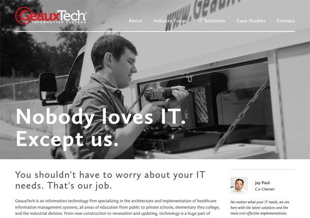 Screenshot of portfolio item 'GeauxTech'