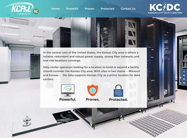 Screenshot of portfolio item 'KCPL Data Centers'